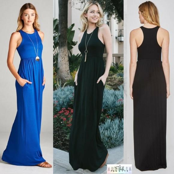 Bellamie Dresses Amy Racerback Maxi Dress By Poshmark